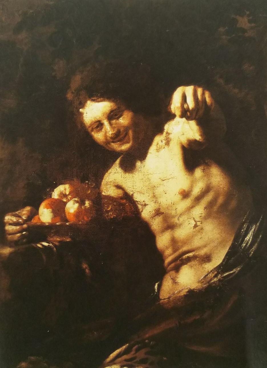Regnier 1622-23 Faune ou Bacchus saisant le geste de la fica coll priv