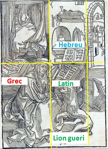 Saint Jerome 1492 Schema