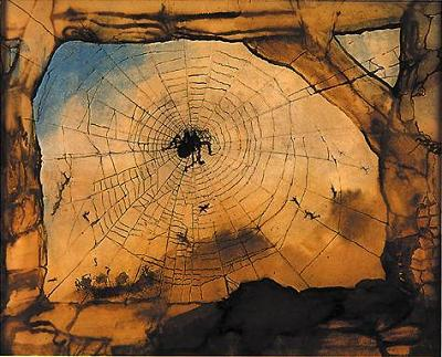 Victor Hugo La ruine de Vianden a travers une toile d'araignee, 13 aout 1871