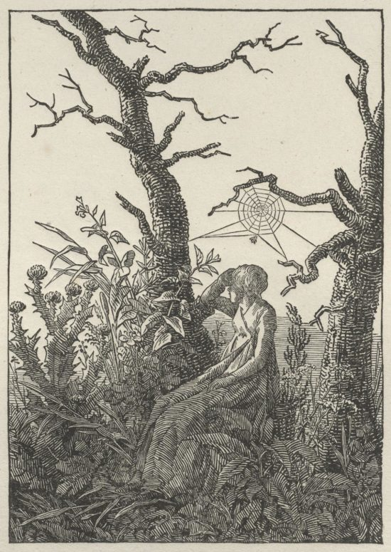 Woman Seated under a Spider's Web (Melancholy), c. 1803, by Caspar David Friedrich