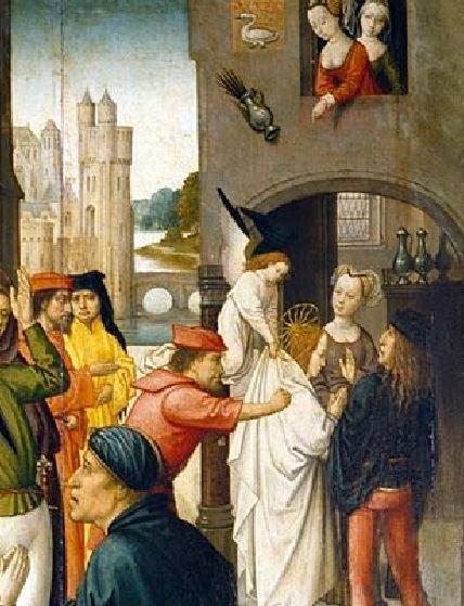 Histoires de la vie de Ste Agnes, anonyme flamand XVeme, Palazzo Reale, Genes, Italie1 (detail)