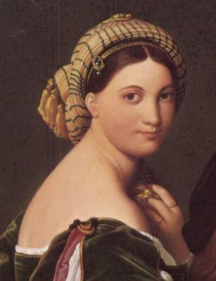 Jean_auguste_dominique_ingres_raphael_and_the_fornarina 1814 Fogg Art museum detail