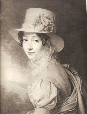 Portait de sa soeur Zoe, par Julie Duvidal de Montferrier, 1819 localisation inconnue