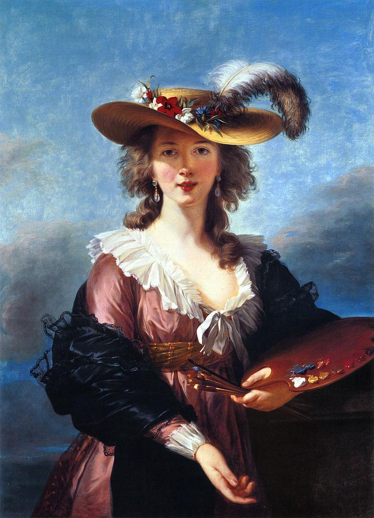 vigee-lebrun-autoportrait-au-chapeau-de-paille-1782 National Gallery, Londres