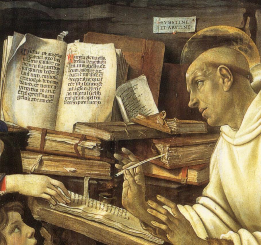Bernardo_claraval_filippino_lippi detail livres