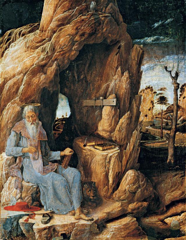 Mantegna_-St Jerome au desert 1448-51 Musee d'Art de Sao Paulo