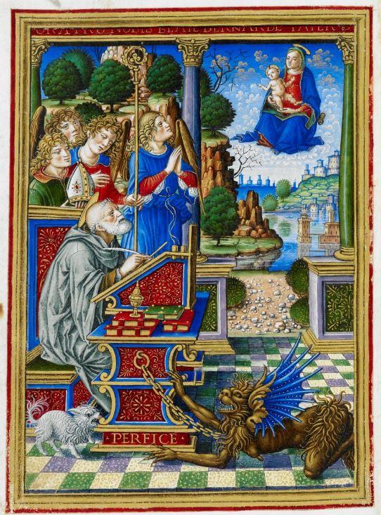 Saint Bernard Heures Sforza ms_34294_f. 200v 1490-94 British Library