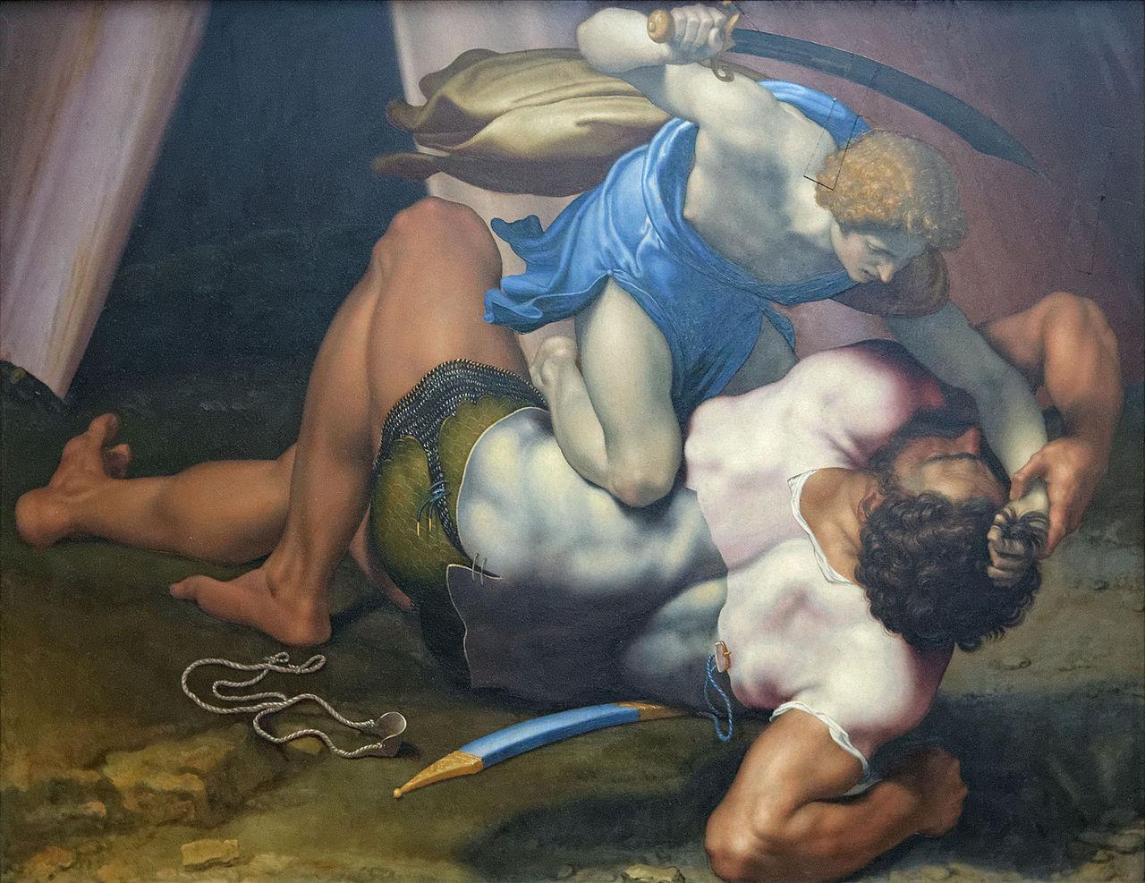 David_and_Goliath_by_Daniele_da_Volterra_(Louvre_INV_566)_recto_02