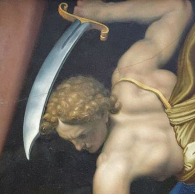 David_and_Goliath_by_Daniele_da_Volterra_(Louvre_INV_566)_verso_02_david