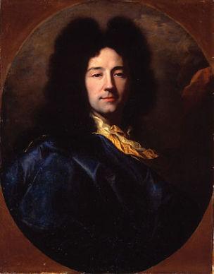 1696 Rigaud autoportrait au manteau bleu chateau de Groussay.