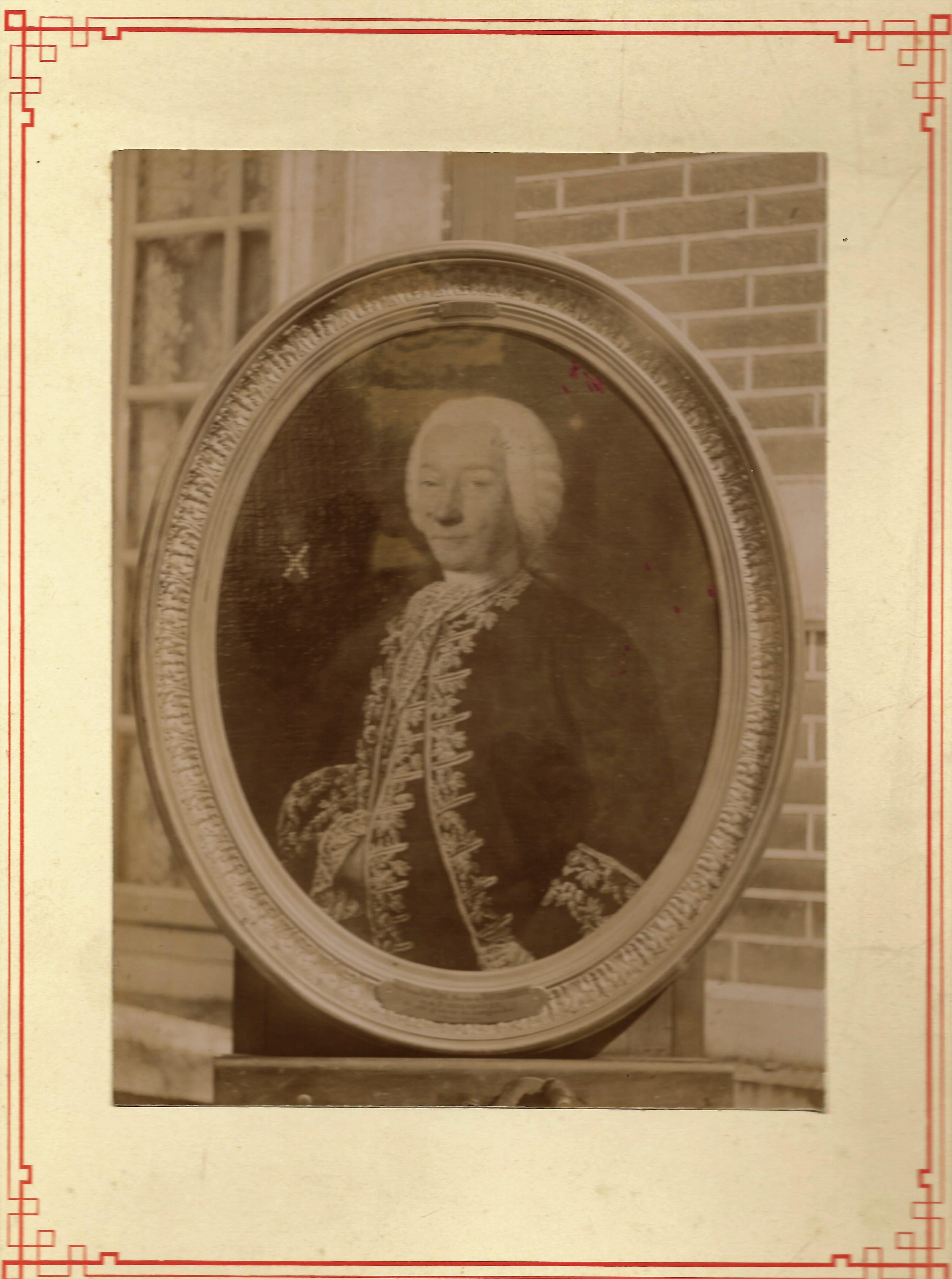 1701-1786 Jean Antoine Duvidal 1er Marquis par Tocque coll Gladysz