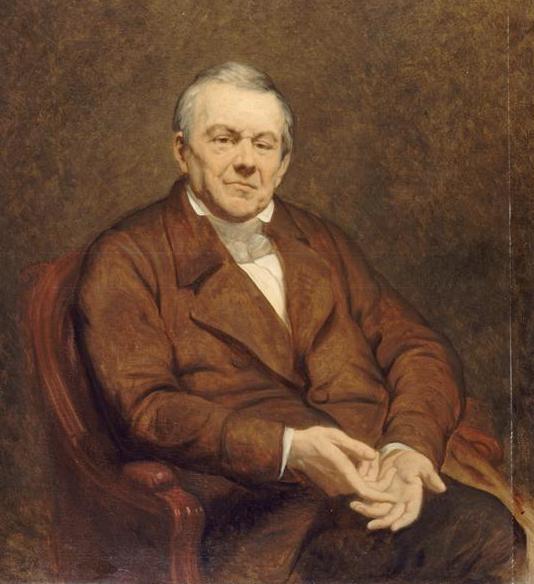 Abel-François Villemain. Portrait par Ary Scheffer, 1855 Louvre
