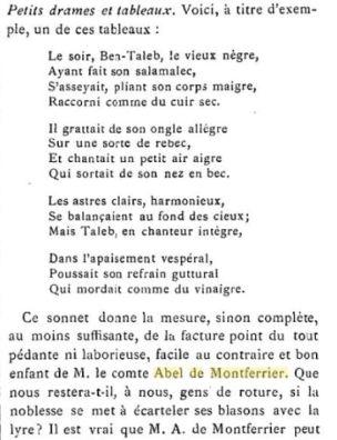 Abel de Montferrier Le Livre revue mensuelle, 1889, p 496