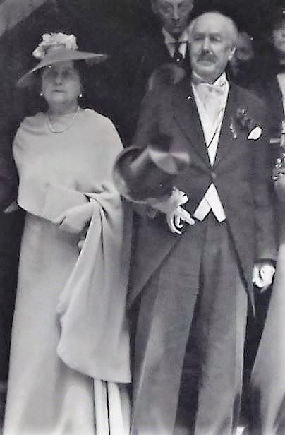 Abel de Montferrier et Marie Louise au mariage de Cecil en 1936