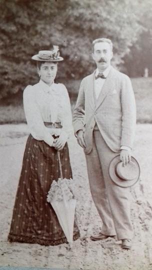 Abel de Montferrier et Marie Louise aux Clayes aout 1892