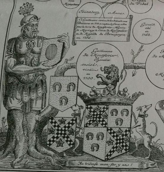 Armoiries des Duvidal de Montferrier