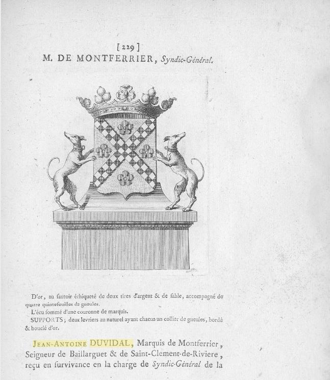 Armorial_des_Etats_de_Languedoc_Gastelier de La Tour, 1767