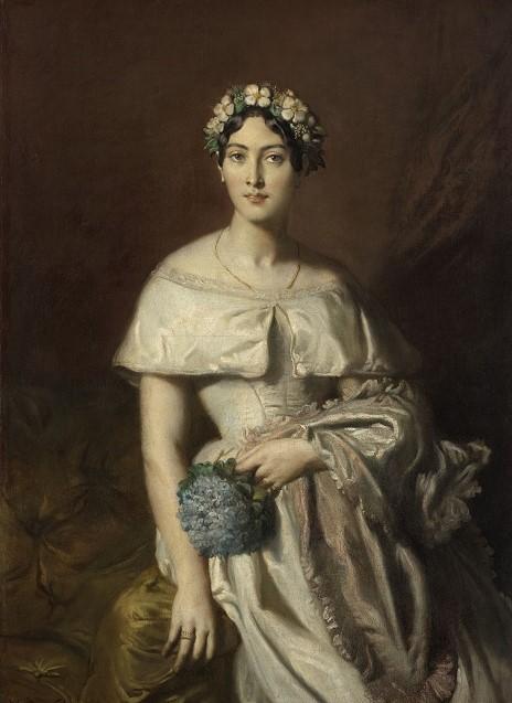 Chasseriau Portrait de mademoiselle de Cabarrus, 1848-Musee des beaux-arts de Quimper