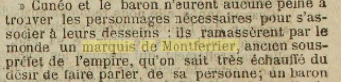 La Charente 20-01-1879 Politique Montferrier