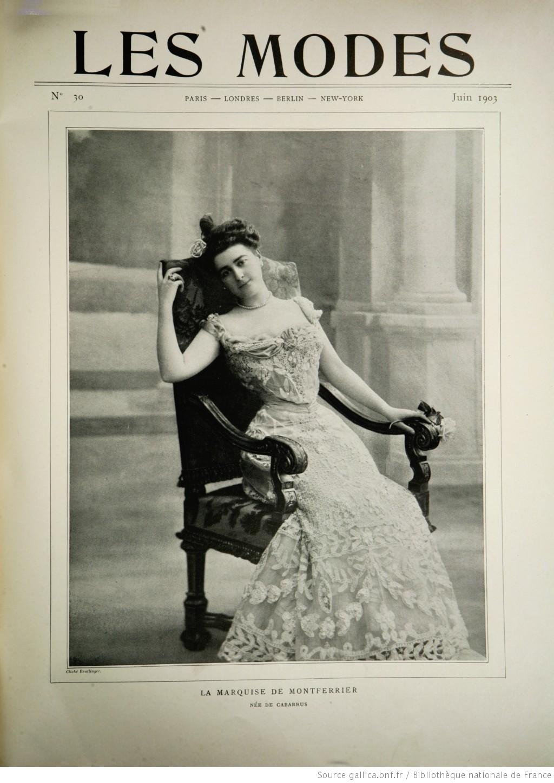 Les Modes Juin 1903 La marquise de Montferrier