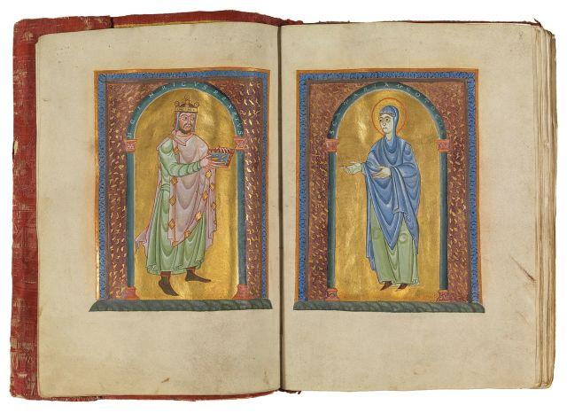 1012 avant Evangile de Henri II Dedicace _Msc.Bibl.95_Bl.7v-8r_Staatsbibliothek Bamberg