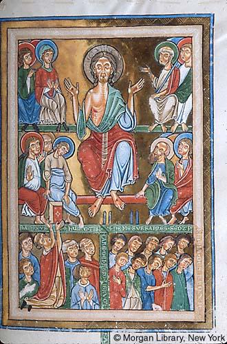 1225-1250 Gradual, Sequentiary, and Sacramentary Germany, Weingarten Morgan Library MS M.711 fol. 9r