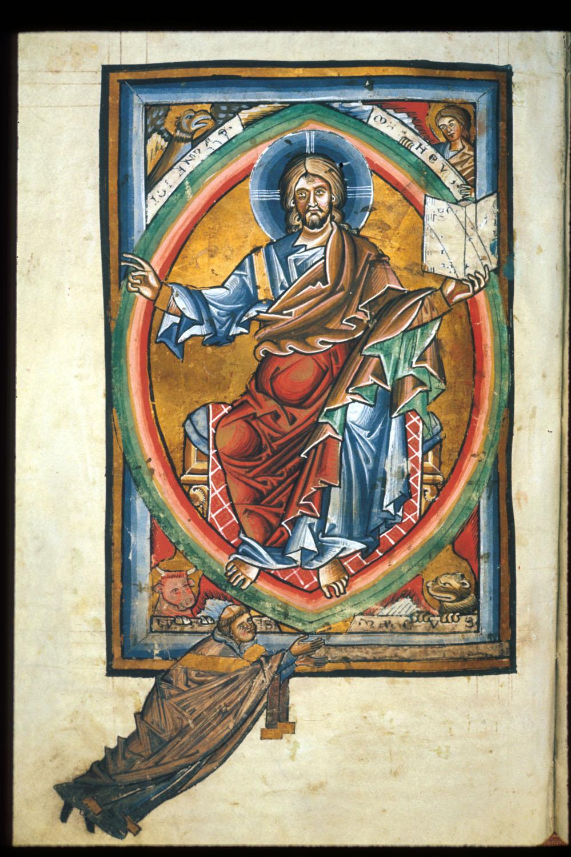 1225-36 Gradual, Sequentiary, and Sacramentary Germany Arundel 156 f. 99v Majestas Domini British Library