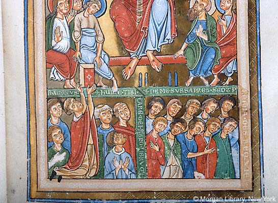 1225-50 Gradual, Sequentiary, and Sacramentary, Weingarten, Donor Hainricus Sacrista, Morgan Library MS M.711 fol. 9r