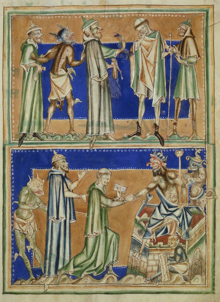 1252-67 Apocalypse de Lambeth MS 209 f46r