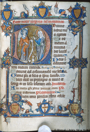 1280-90 Hours of Yolande de Soissons, French, Amiens, c. (New York, Morgan, MS M.729, fol. 233r