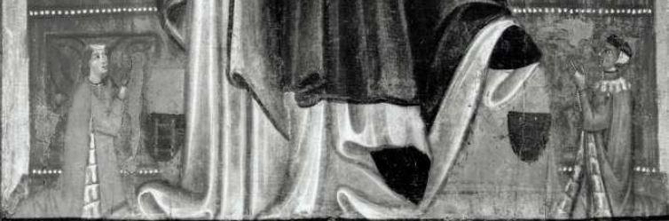 1285-90 Maestro di Varlungosan Bartolomeo, san Domenico e donatori Collezione A. Pittas detail,