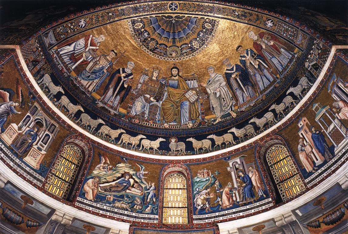1291 Pietro Cavallini Abside, Santa maria del Transtevere