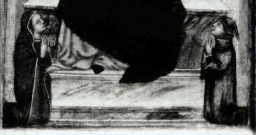 1300-49 Maestro Daddesco Madonna con Bambino in trono e due donatori National Gallery of Canada, Ottawa detail