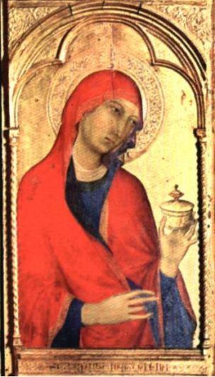 1319-20 ca Simone Martini Polyptyque de Santa Caterina d'Alessandria Museo San Matteo Pise detail