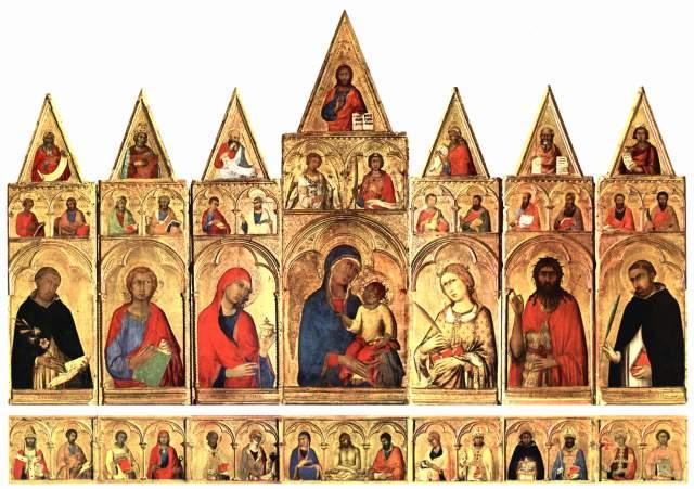 1319-20 ca Simone Martini Polyptyque de Santa Caterina d'Alessandria Museo San Matteo Pise