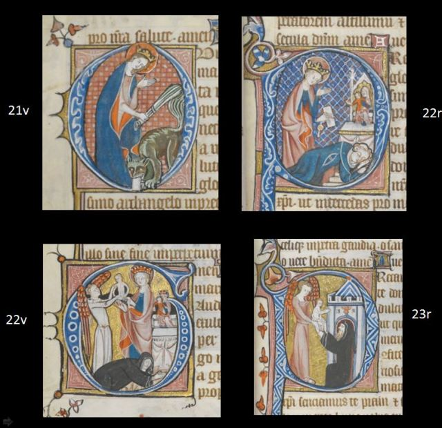 1325-50 British Library Egerton MS 2781Theophile et abbesse