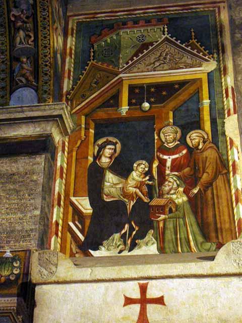 1327 Donatore Antonio Fissiraga Saint Nicolas Saint Francois eglise San Francesco Lodi