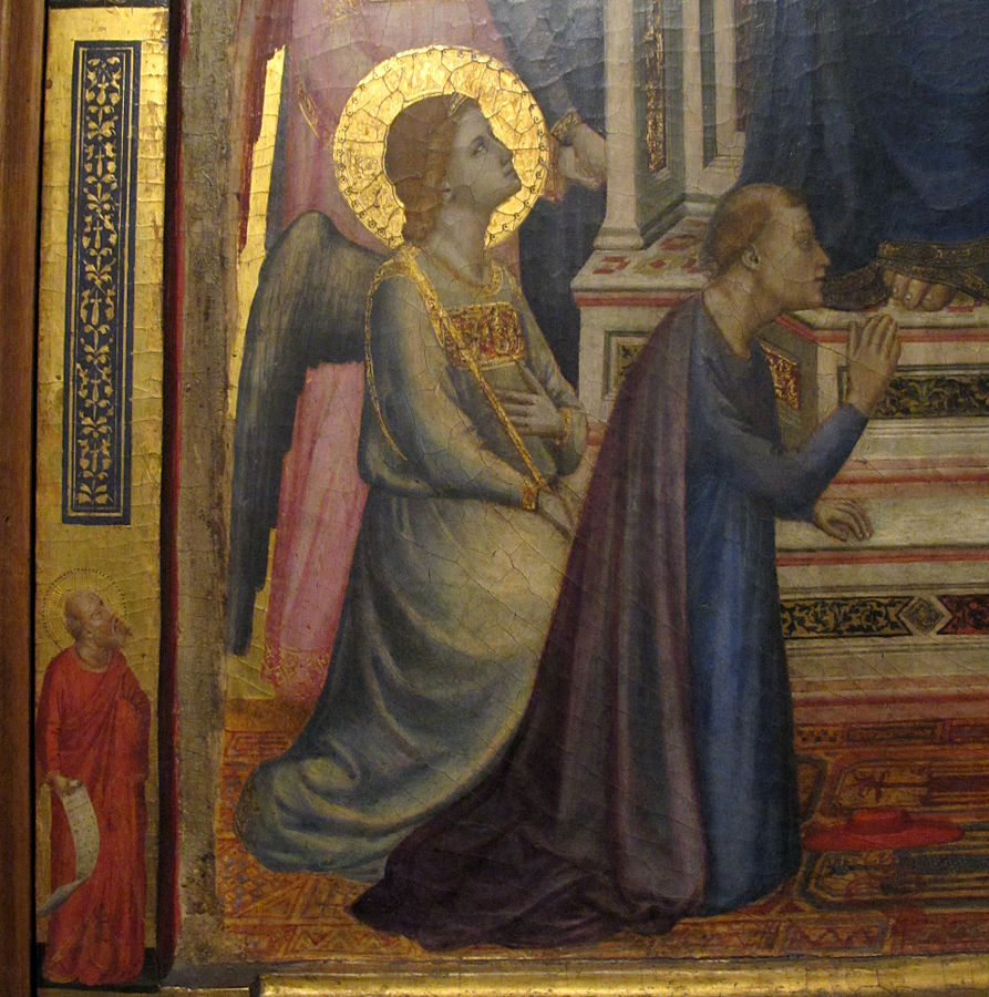 1330 ca Giotto_di_Bondone_-_The_Stefaneschi_Triptych Christ detail