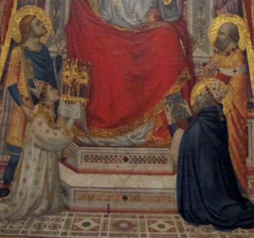 1330 ca Giotto_di_Bondone_-_The_Stefaneschi_Triptych Saint Pierre detail