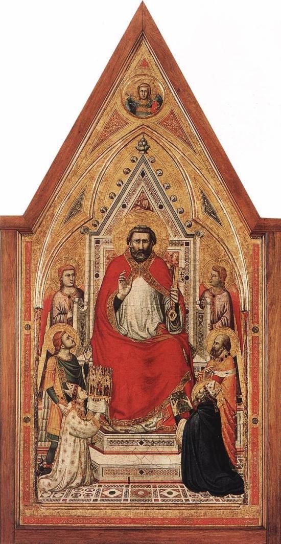 1330 ca Giotto_di_Bondone_-_The_Stefaneschi_Triptych st pierre