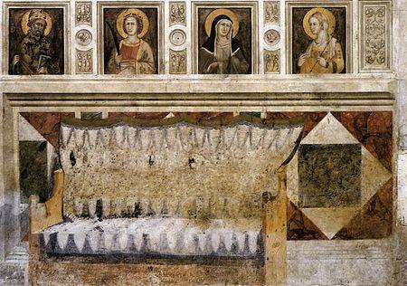1330 ca Pietro Lorenzetti-Banca vuota Transept gauche de la basilique inférieure
