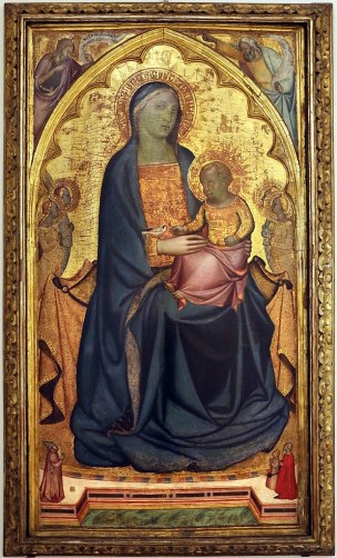 1338-76,Francesco di Neri da Volterra Madonna and Child With Three Donors Galleria e Museo Estense, Modena