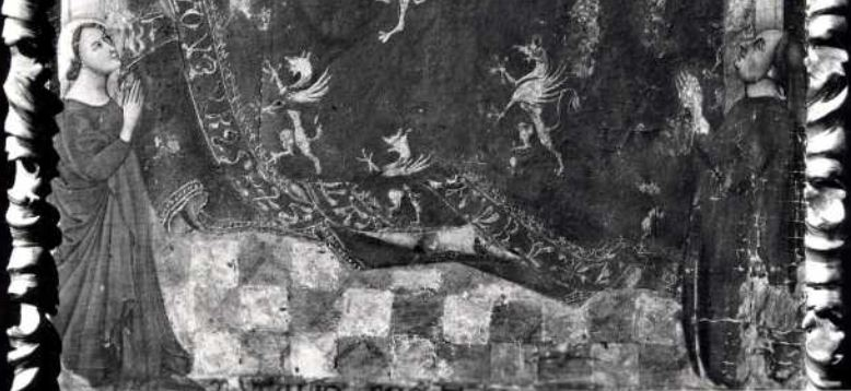 1345 Vitale da Bologna Madonna dei Denti Museo Davia Bargellini, Bologna detail