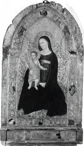 1350 - 1399 Anonimo fiorentino sec. XIV, Madonna con Bambino, Santi, Simboli dei quattro evangelisti, Donatori coll priv