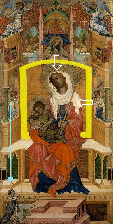1350 Glatzer_Madonna Bohemian_Master Gemaldegalerie Berlin schema