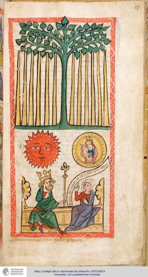 1360 Speculum humanae salvationis Darmstadt, Hess. Landesbibliothek, Ms. 2505.