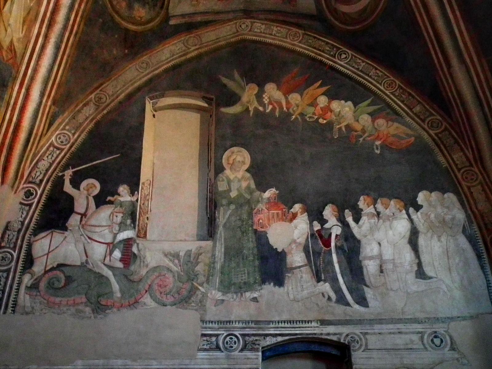 1368-69 Le comte Porro donnant l'oratoire à St Etienne Mur droit S. Stefano di Lentate