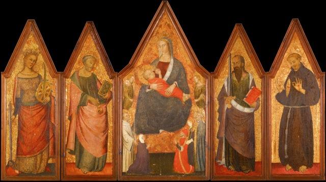 1368-90, Poliptico de la Virgen de la Leche. Museo Diocesano de Cordoba ensemble