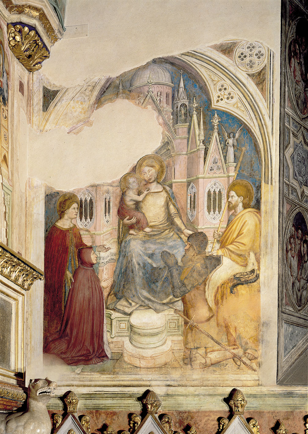 1377-79 Altichiero Ste Catherine, Catarina Franceschi epouse, Bonifacio de Lupi, Jaques, Capella San Giogio, Sant Antonio, Padova
