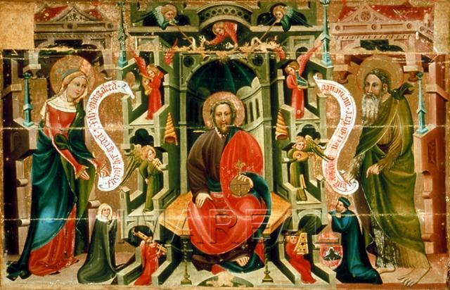 1395-1405 Votivtafel des Hans Austrunk Museo Civico Schnals Kartause, Bozen